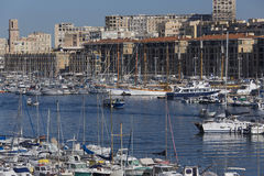 Marseille - South of France. The Vieux Port of Marseille on the Cote d'Azur in the South of France Royalty Free Stock Photo
