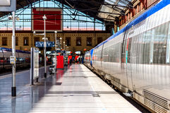Marseille St Charles järnvägsstation Arkivfoto