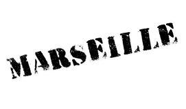 Marseille stamp rubber grunge Royalty Free Stock Photos