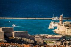 Marseille stary port Zdjęcia Stock