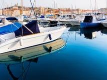 Marseille. Stary port. Jachty. Zdjęcia Stock