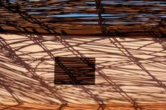 Marseille-terrass fönster arkivbilder