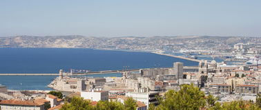 Marseille from top of Notre Dame de la Garde Royalty Free Stock Image