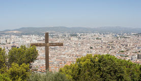 Marseille from top of Notre Dame de la Garde Stock Photos