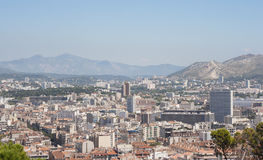 Marseille from top of Notre Dame de la Garde Stock Photo