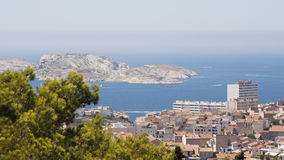 Marseille from top of Notre Dame de la Garde Royalty Free Stock Images