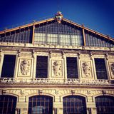 Marseille train station. Facade of the Marseille Saint Charles train station Royalty Free Stock Images