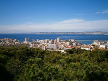 Marseille und Meer Stockbild
