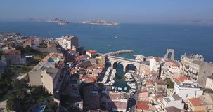Marseille Valley of Auffes aerial unique view 4K stock video
