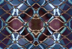 Marseille versah Muster mit einem Gatter Stockfoto
