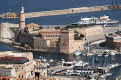 Marseilles. The old fort st jean at the enter of the port of marseilles in france.may 2007 Royalty Free Stock Photography