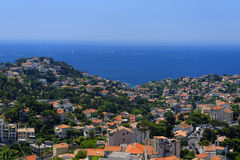 Marseilles city coastline Royalty Free Stock Photo
