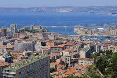 Marseilles city and harbor Royalty Free Stock Photo