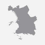 Marseilles city map in gray on a white background Royalty Free Stock Photography