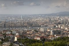 Marseilles Cityscape, France Royalty Free Stock Photo