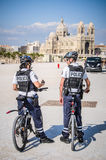 MARSEILLES, FRANCE - MAY 7 2014: Marseilles Police By Marseilles Stock Images