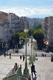 Travelers Outside Marseilles Railway Station France royalty free stock images