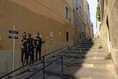 Marseilles gammal fjärdedel Panier Royaltyfri Bild