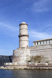 Marseilles old port. Lantern Tower in Fort Saint-Jean. Marseilles, France Royalty Free Stock Photography