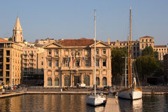 The Marseilles port Royalty Free Stock Photos