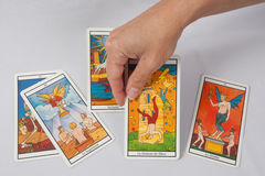 Marseilles Tarot Decks Stock Photos