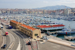 Marseilles Vieux Port. View of the Vieux Port (the old port) area in Marseilles, France Stock Photos