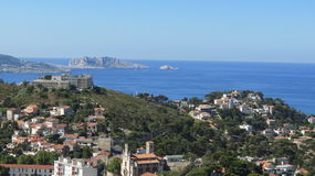 Marseilles. View of Marseilles as seen from a high point in the city Stock Image
