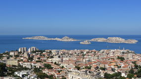 Marseilles. View of Marseilles as seen from a high point in the city Stock Photos