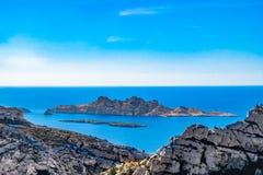 Marselha-arquipélago de Riou fotografia de stock royalty free