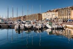 MARSELHA, FRANÇA - 11 de janeiro: Barcos o 11 de janeiro de 2012 no Foto de Stock Royalty Free