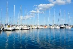 Marselisborg yacht harbour - Aarhus Denmark Stock Photography