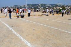 Marsella Francia - 20 de agosto 2012 Deportes y reconstrucción Fotografía de archivo