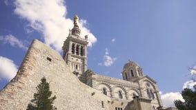Marsella, Notre Dame de la Garde Video 4K almacen de video