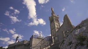 Marsella, Notre Dame de la Garde Video 4K almacen de metraje de vídeo