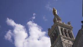 Marsella, Notre Dame de la Garde Video 4K metrajes