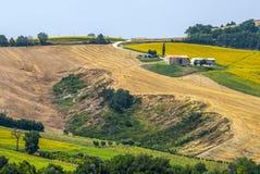 Marsen (Italië), landschap Stock Foto's