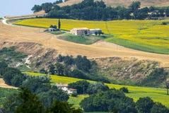 Marsen (Italië), landschap Stock Foto