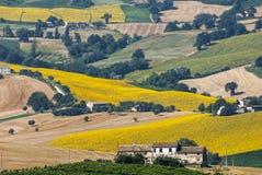 Marsen (Italië) - Landschap Royalty-vrije Stock Foto