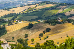 Marsen (Italië), landschap Stock Afbeeldingen