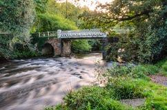Marsh Bridge. Over river barle in dulverton, somerset, england,uk Royalty Free Stock Images