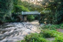 Marsh Bridge. Over river barle in dulverton, somerset, england,uk Royalty Free Stock Photo