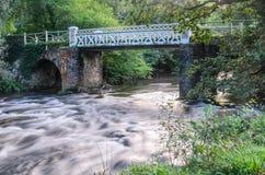 Marsh Bridge. Over river barle in dulverton, somerset, england,uk Stock Image