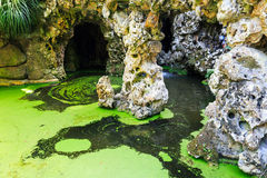Marsh with caves Stock Photo