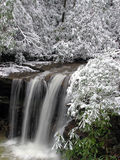 Marsh Fork Falls, Twin Falls State Park, WV #1. December 2005 - Snow storm photograph of this hidden waterfall in south/central West Virgina. This gem of a Stock Images
