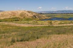 Marsh & hills Stock Images