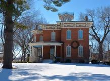 Marsh House im Schnee Stockbilder
