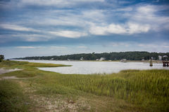 Marsh Inlet im North Carolina lizenzfreie stockbilder