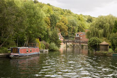 Marsh Lock, Henley-On-Thames. View along the River Thames at Marsh Lock, Henley-On-Thames, Oxfordshire Stock Image