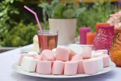 Marsh-mellows stock images