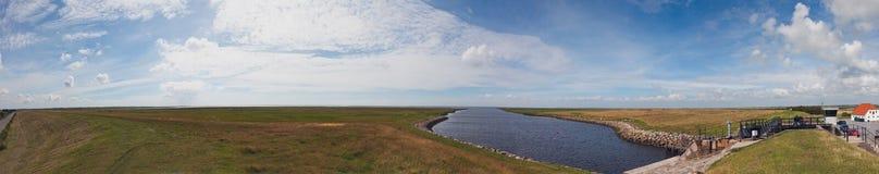 Marsh panorama, Ribe, Denmark Stock Photos